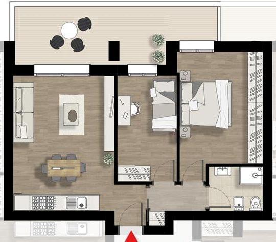 Appartamento trilocale in vendita a Coriano (RN)