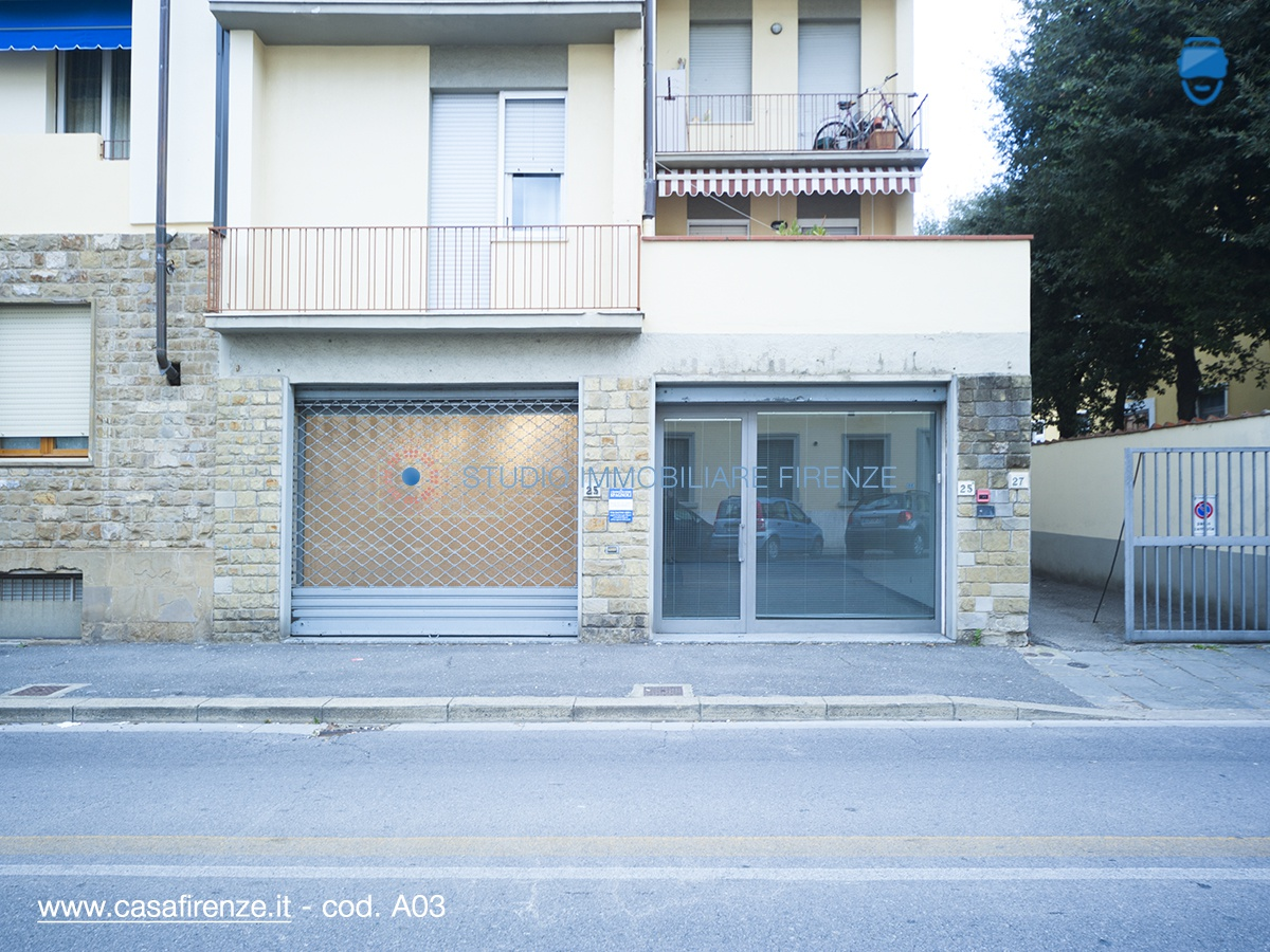 Via Francesco Datini (zona Gavinana) affittasi negozio 107 mq, composto da 2 ampi vani con 2 vetrine fronte strada, oltre antibagno/ripostiglio e  bagno ... Rif. 9545129