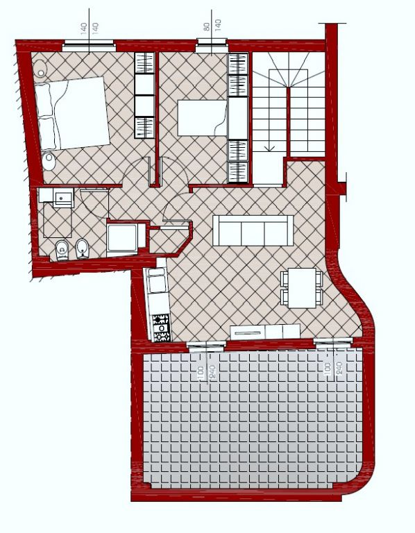 Appartamento in affitto a Rivergaro, 3 locali, zona Località: RIVERGARO, prezzo € 430 | Cambio Casa.it