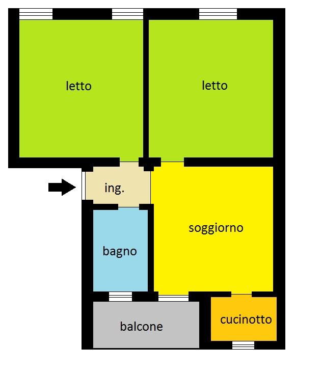 Appartamento in vendita a Piacenza, 3 locali, zona Località: INFRANGIBILE, prezzo € 109.000   Cambio Casa.it