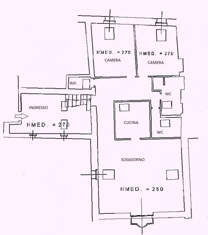 Appartamento in affitto a Piacenza, 4 locali, zona Località: CENTRO STORICO, prezzo € 1.000 | Cambio Casa.it