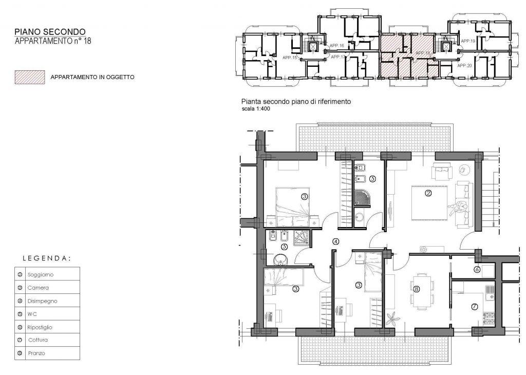 Appartamento in vendita a Lucca, 5 locali, zona Località: S. CONCORDIO CONTRADA, prezzo € 370.000 | Cambio Casa.it