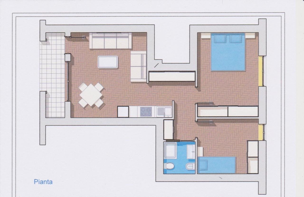 vendita appartamento follonica centro  160000 euro  3 locali  70 mq