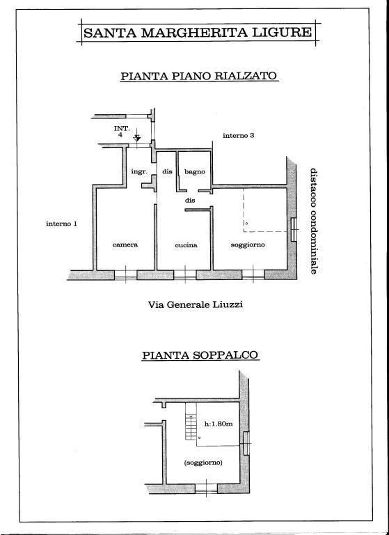 Vendita  bilocale Santa Margherita Ligure Via Roccatagliata 1 889234