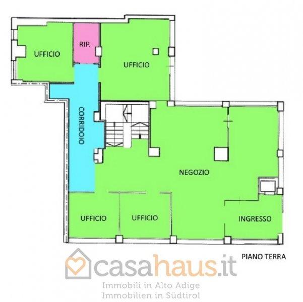 Negozio / Locale in vendita a Bolzano, 7 locali, zona Località: ROMA PZZ.A MATTEOTTI, Trattative riservate | Cambio Casa.it