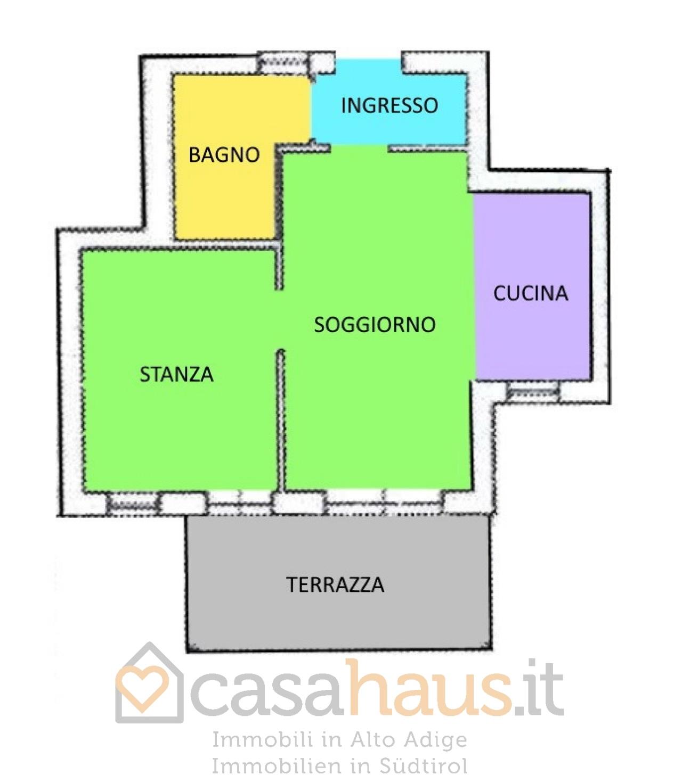 Appartamento in vendita a Merano, 2 locali, prezzo € 215.000 | CambioCasa.it