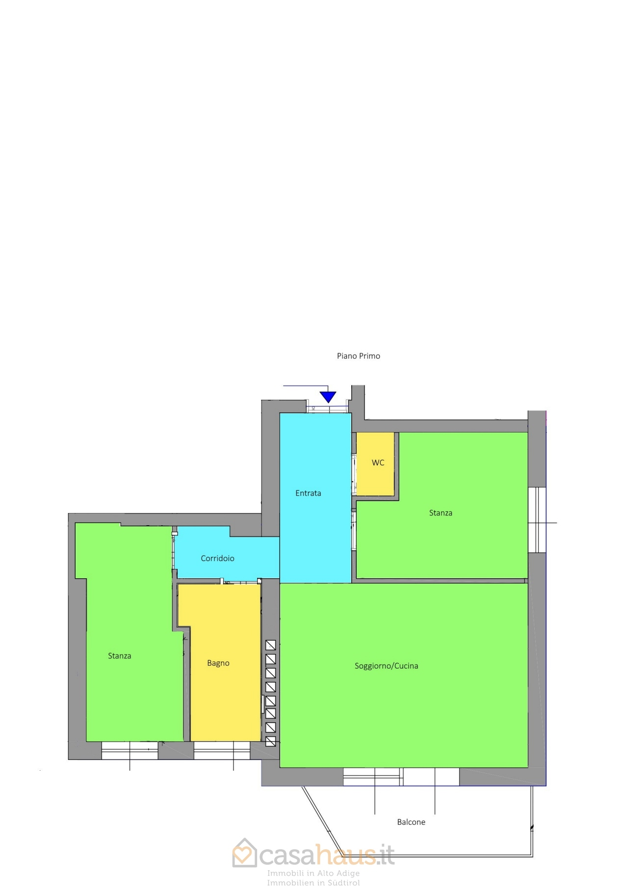 Appartamento in vendita a Merano, 3 locali, prezzo € 365.000   CambioCasa.it