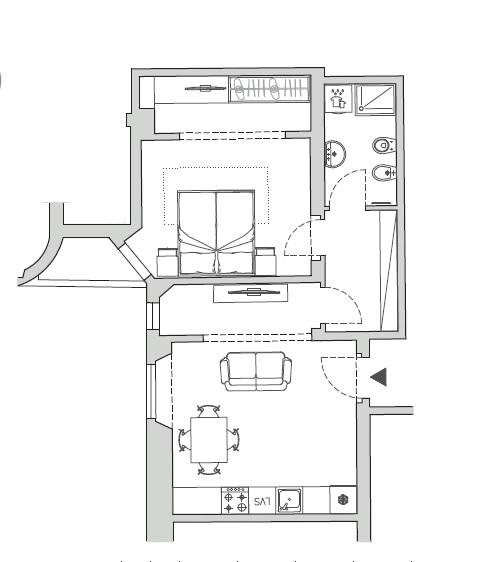 Appartamento in vendita a Firenze, 2 locali, prezzo € 275.000   CambioCasa.it
