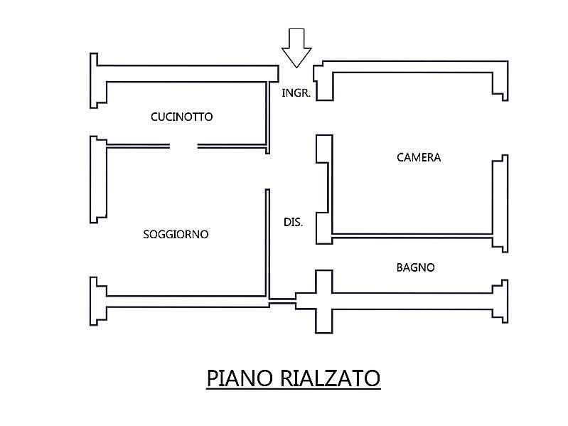 Vendita  bilocale Capriate San Gervasio Via Xxv Aprile 1 890424