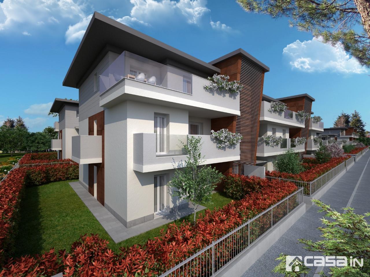 POZZO D'ADDA , 4 LOCALI con GIARDINO: In palazzina di nuova costruzione, proponiamo in vendita luminoso appartamento di 4 locali col giardino su tre lati , l'immobile, personailizzabile nelle finiture, è composto da soggiorno, cucina abitabile, 3 camere e 2 bagni.<br /> <br /> Possibilità box singolo o doppio.