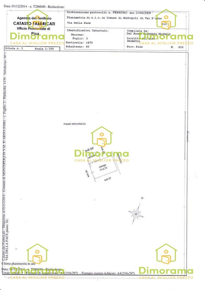 Appartamento MONTOPOLI IN VAL D'ARNO PI1251737