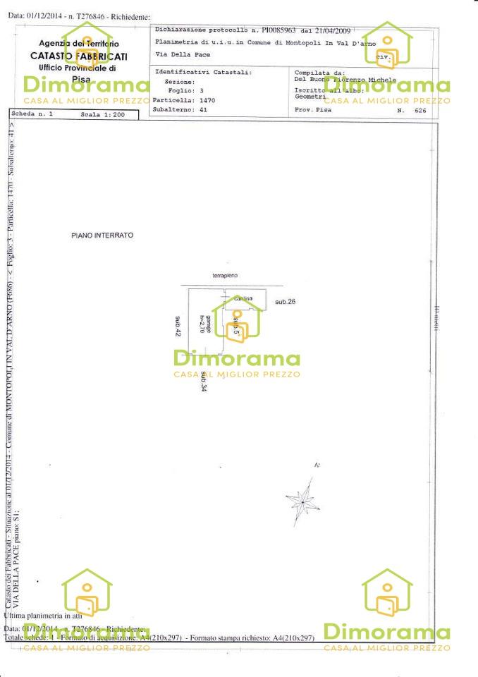 Appartamento MONTOPOLI IN VAL D'ARNO PI1251738