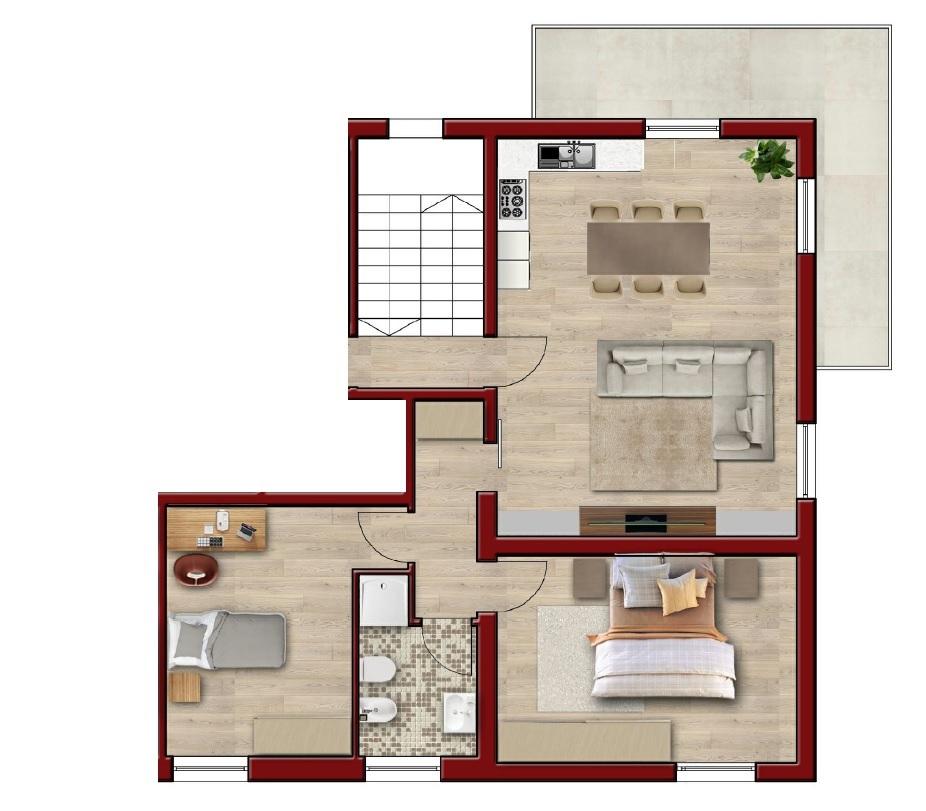 Appartamento in vendita a Sale Marasino, 3 locali, prezzo € 189.000   CambioCasa.it