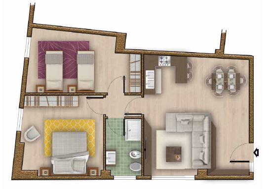 Appartamento in vendita a Marone, 3 locali, prezzo € 79.900   CambioCasa.it