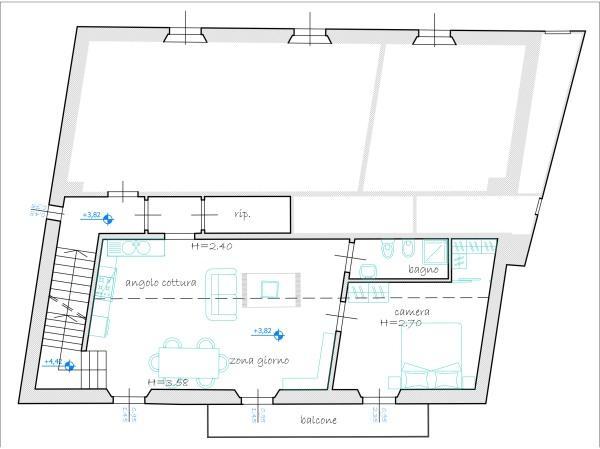 Appartamento in discrete condizioni in vendita Rif. 5434694
