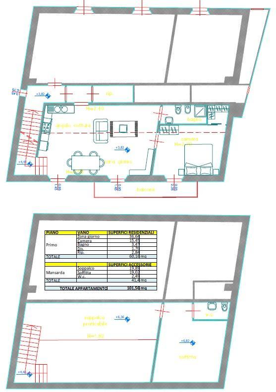 Appartamento in discrete condizioni in vendita Rif. 5434897