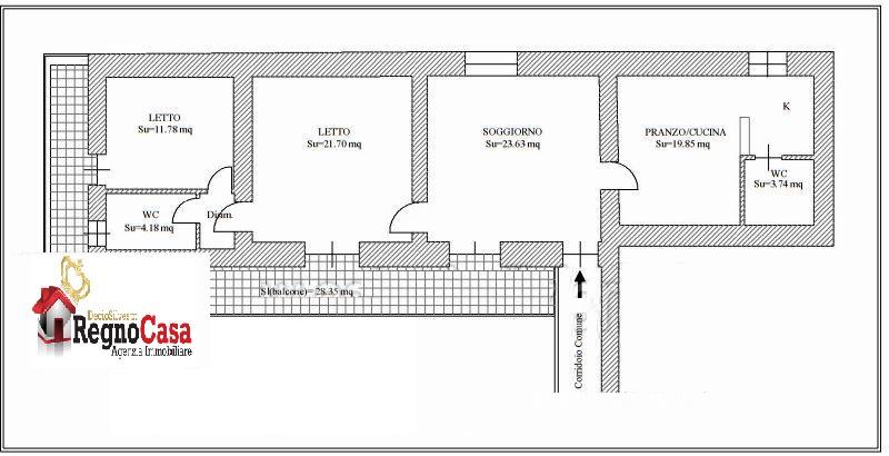 Appartamento da ristrutturare in vendita Rif. 8601770