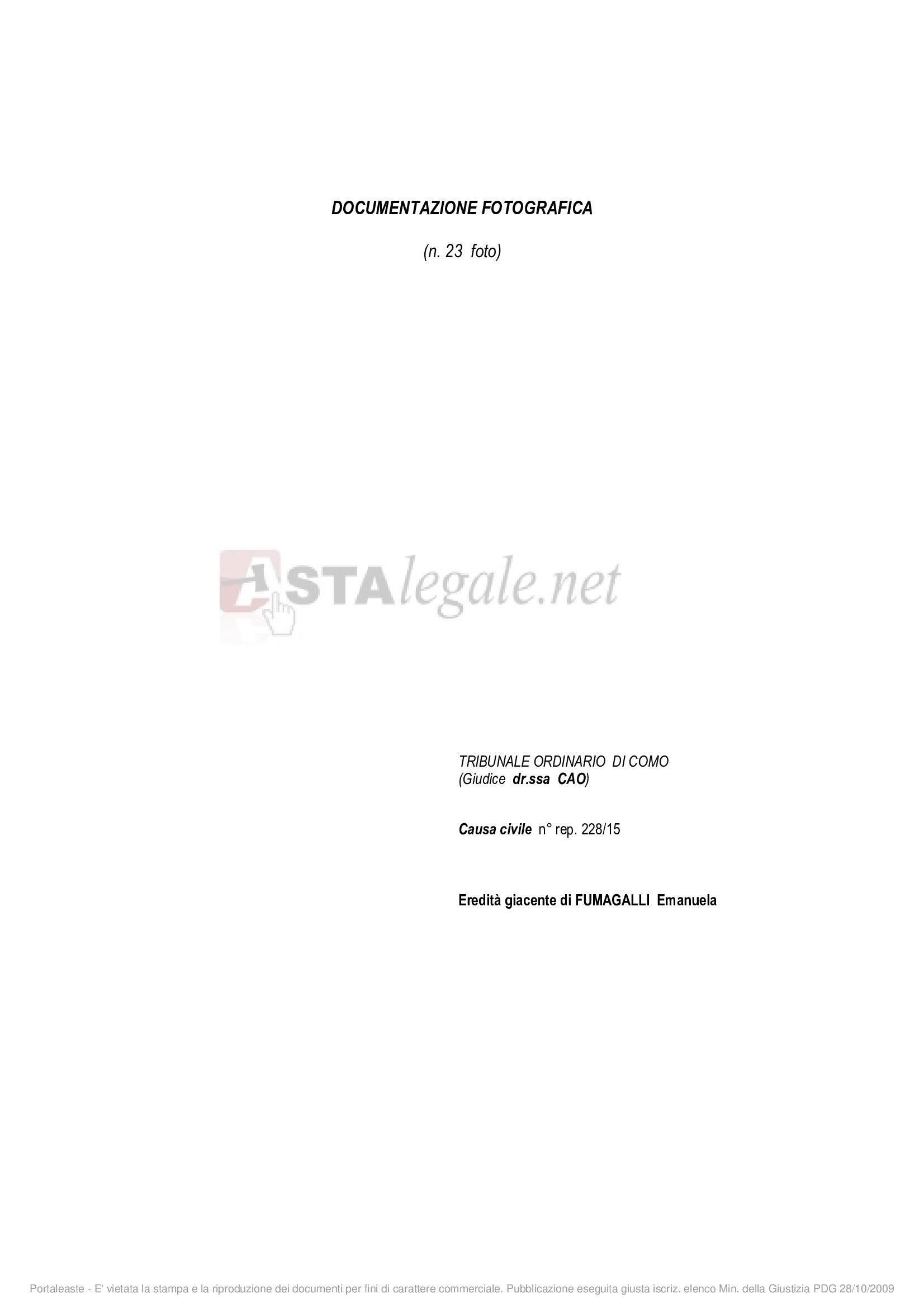 Appartamento bilocale in vendita a Veleso (CO)